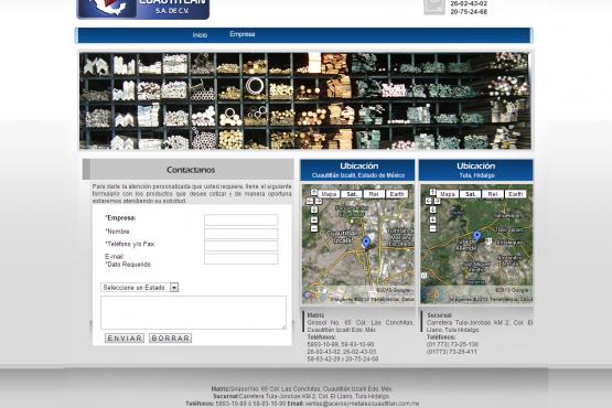 Catalogo virtual de Aceros y Metales Cuautitlan