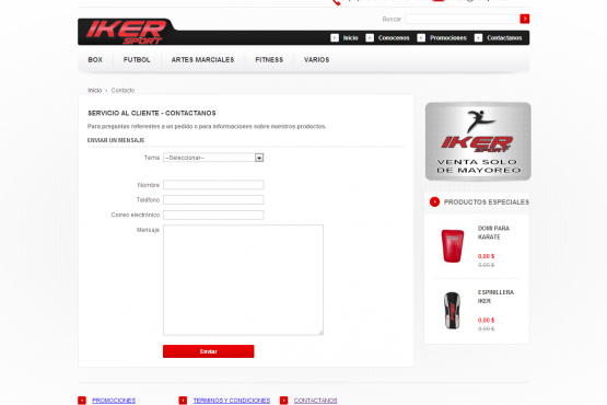 Catalogo virtual de Ikersport