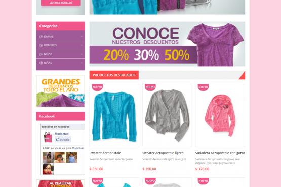 Tienda virtual de Moda Actual