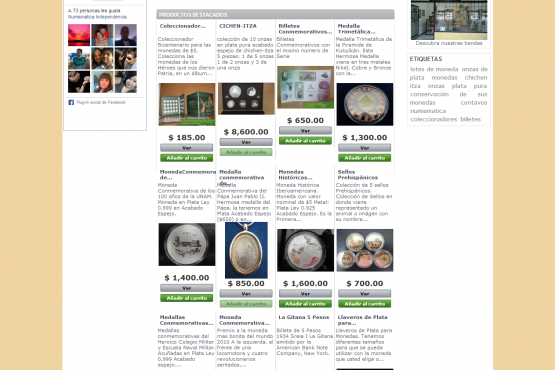 Tienda virtual de Numismática Independencia