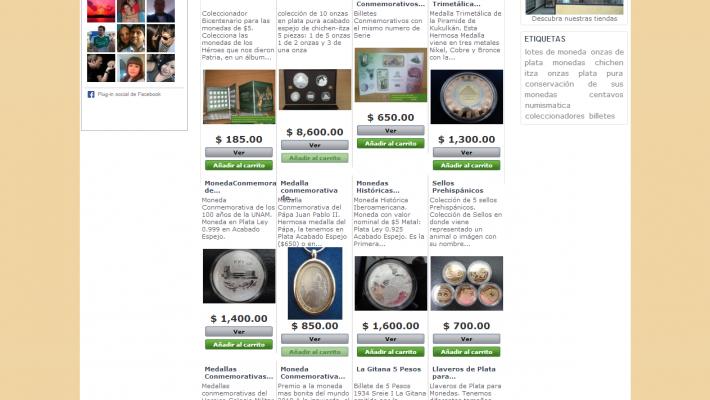 Tienda virtual de Numismática Independencia