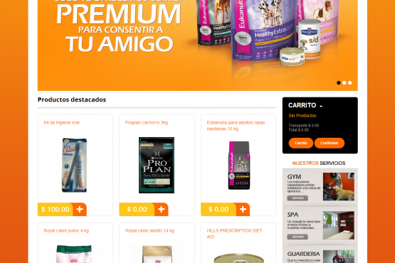 Tienda virtual de Pet Central