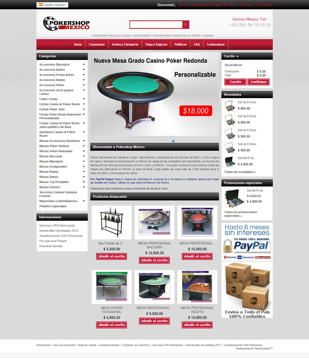 Tienda virtual poker de las americas