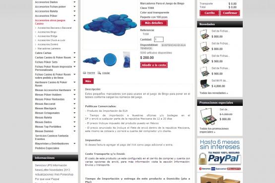 Tienda virtual de Pokershop México